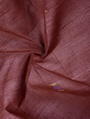 Madder Hand woven Natural dye Jamdani Cotton Fabric