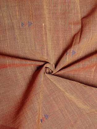 Red Handwoven Jamdani Cotton Fabric