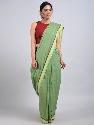 Green Handwoven Cotton Saree