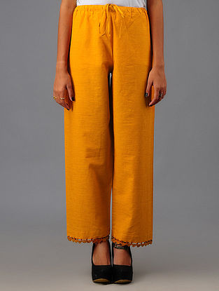 Mustard Ejar Cotton Pants