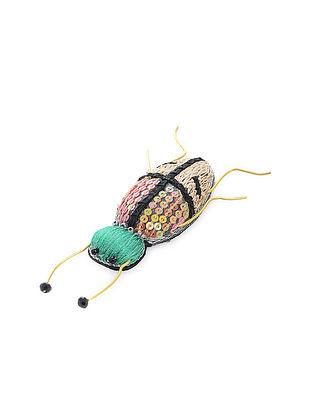 Multicolored Alphie Bug Fabric Brooch