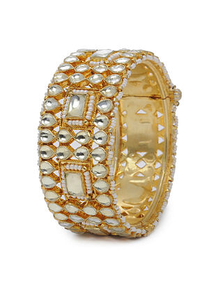 Gold Tone Kundan Inspired Layered Bangle