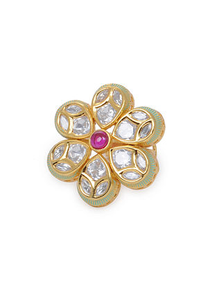 Mint Gold Tone Kundan Inspired Ring