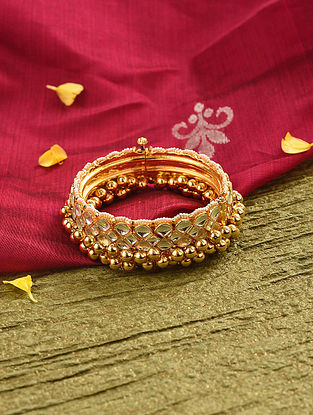 Gold Tone Kundan Bangle