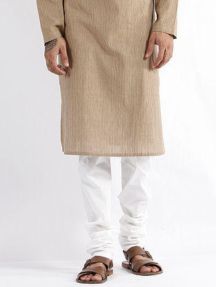 White Cotton Churidar Pyjama