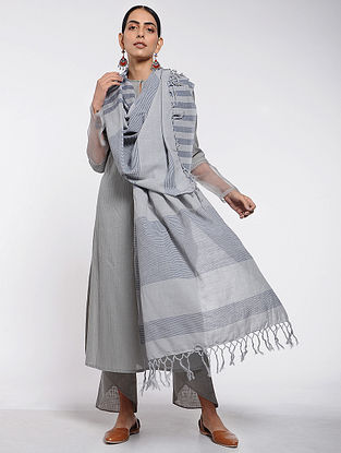 Grey Cotton Dupatta