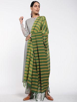 Green-Beige Cotton Dupatta