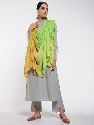 Green-Yellow Cotton Dupatta
