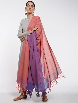 Pink-Purple Cotton Dupatta