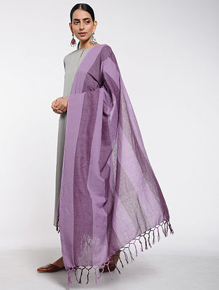 Purple Cotton Dupatta