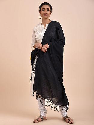 Black Handwoven Cotton Dupatta
