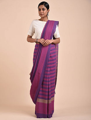 Pink-Purple Handwoven Cotton Saree