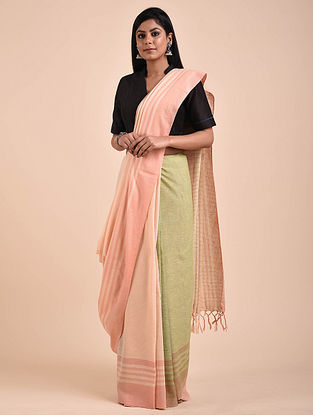 Purple-Green Handwoven Cotton Saree