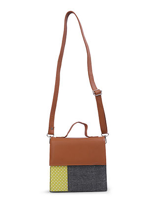Multicolored Leather Sling Bag