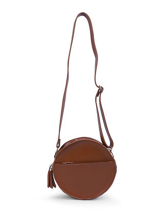 Tan Leather Sling Bag