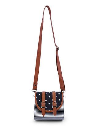 Black-Tan Leather Sling Bag