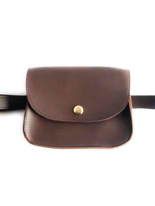 Brown Leather Waist cum Sling Bag
