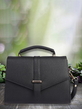 Black Handcrafted Sling Bag