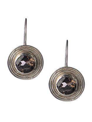 Pair of Smoky Quartz Silver Earrings