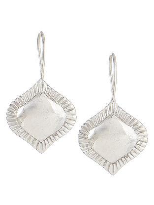 Flare Silver Hook Earrings