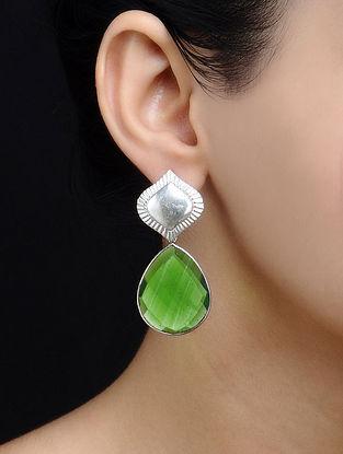 Flare Peridot Hydro Silver Earrings