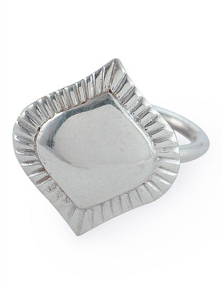 Flare Adjustable Silver Ring