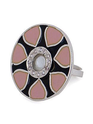 Meenakari Adjustable Mehr Silver Ring