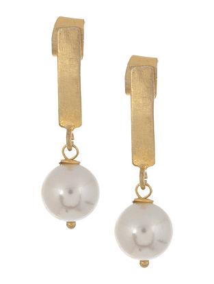 Pearl Drop Silver Earrings by Benaazir
