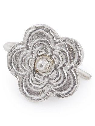 Floral Silver Nose Clip