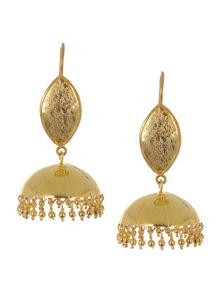 Classic Gold-Plated Silver Drop Earrings