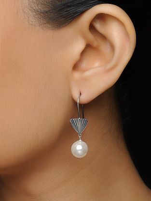 Pearl Drop Silver Earrings