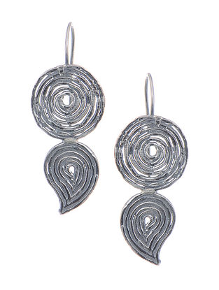 Classic Silver Earrings with Paisley Design