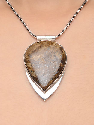Bronzite Silver Pendant
