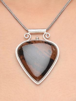 Mahogany Obsidian Silver Pendant