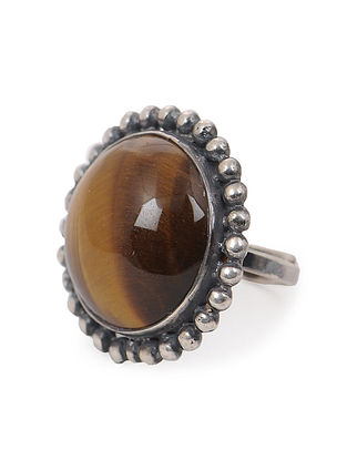 Tigers Eye Adjustable Ring