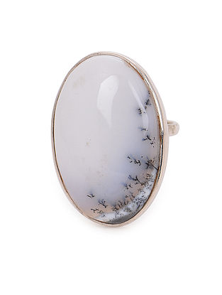 Dendrite Adjustable Silver Ring