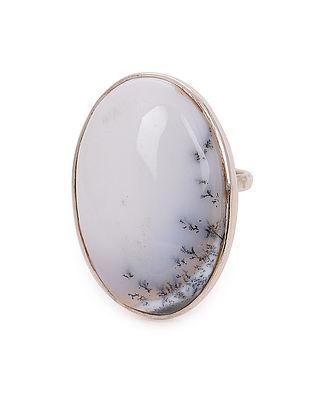 Dendrite Adjustable Silver Ring