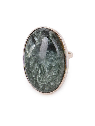 Serpentine Adjustable Silver Ring