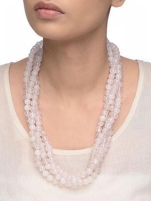 Rose Quartz Beaded Multi-string Necklace