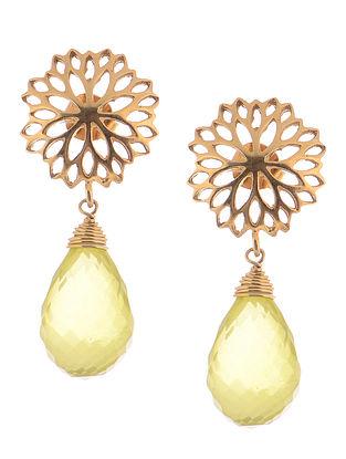 Lemon Topaz Gold-plated Silver Earrings