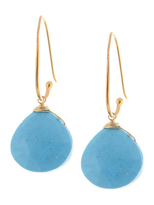 Howlite Gold-plated Silver Earrings