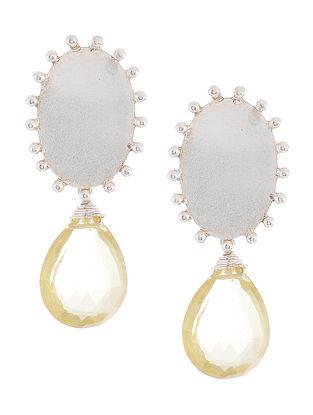 Lemon Topaz Silver Earrings