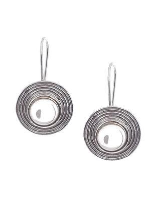 Smoky Quartz Silver Earrings