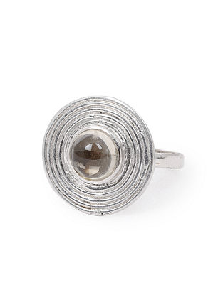 Lemon Topaz Adjustable Silver Ring
