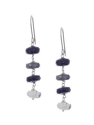 Rutilated Quartz Silver Earrings