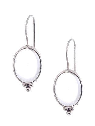 Clear Quartz Silver Earrings