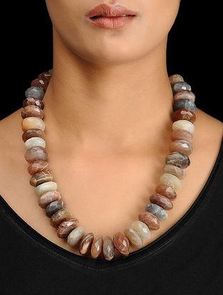 Jasper Beaded Silver Necklace