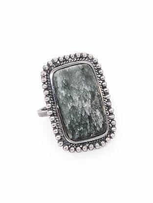 Seraphinite Silver Adjustable Ring