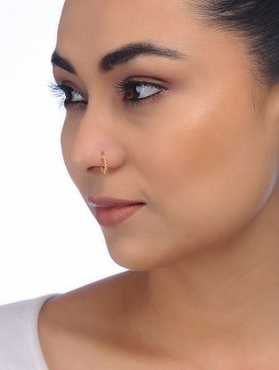 Gold Tone Silver Nose Pin