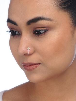 Pearl Silver Nose Clip